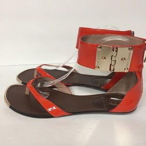 Vince Camuto Orange Kastern Ankle Strap Sandals